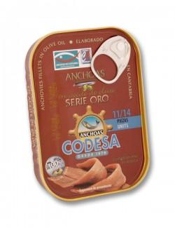 Filetti di acciughe del Mar Cantabrico serie oro - 85 g