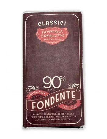 Tavoletta di cioccolato fondente 90%