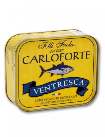 Ventresca di tonno rosso di Carloforte in olio di oliva - 350 g