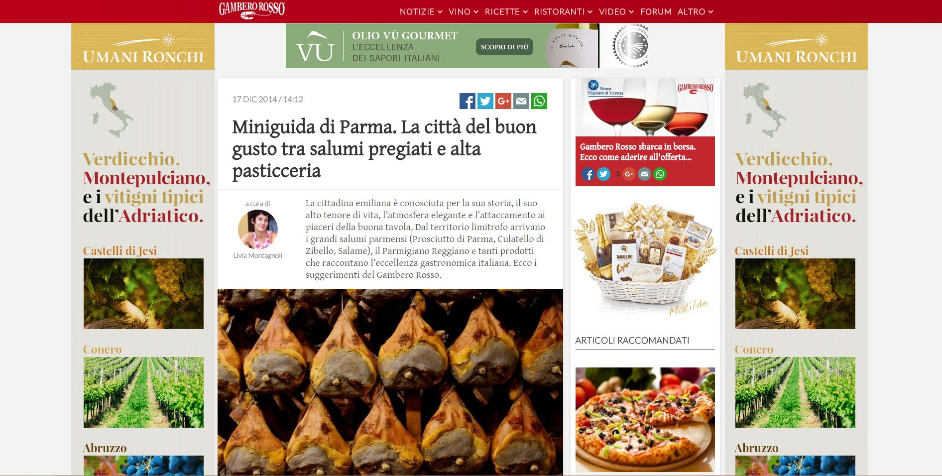 Salumi Parma Gambero Rosso